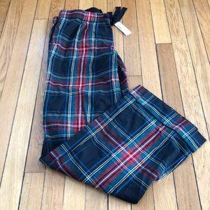 NWT Jcrew size S plaid pajama/lounge  pants